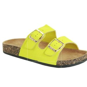 New! Yellow Slides with gold buckle and arch supp…